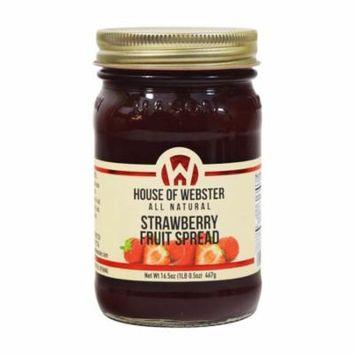 House of Webster Strawberry - No Sugar Added - 100% Fruit Spread 16.5 oz