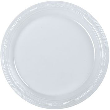 Hanna K. Signature Collection 50 Count Plastic Plate, 10-Inch, Clear