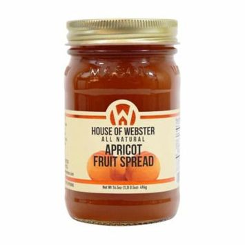 House of Webster Apricot Fruit Spread No Sugar Added 16.5 oz