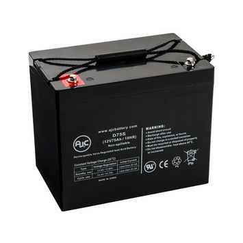 EV Rider Vita 4 Wheel 12V 75Ah Wheelchair Battery - This is an AJC Brand® Replacement