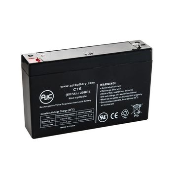 WKA6-7.2F 6V 7Ah UPS Battery - This is an AJC Brand® Replacement