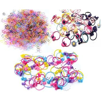 Oopsu 1870 pcs Hair Accessories for Girls–Cute Ponytail Holders Hair Rope,Elastic Rubber Bands