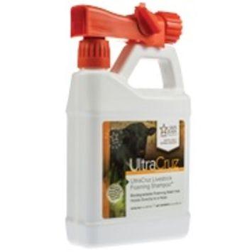 UltraCruz Livestock Foaming Shampoo, 32 oz with travel applicator