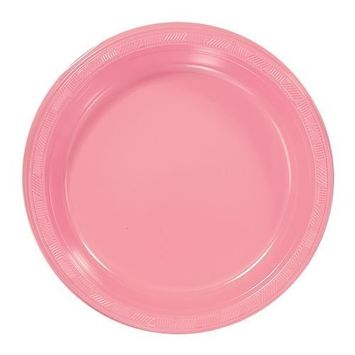 Hanna K. Signature Collection Plastic Plate, 50 Plates, 9-Inch, Pink