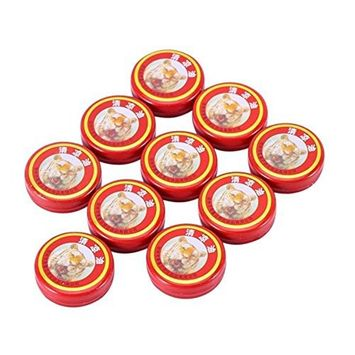 Enshey 10pcs Essential Balm Oil Tiger Head Cooling Ointment Oil QingLiangYou for Headache Carsickness Mosquito Bites