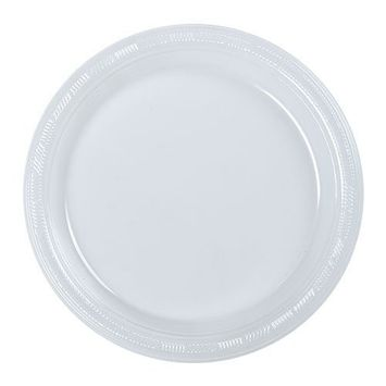 Hanna K. Signature Collection 50 Count Plastic Plate, 9-Inch, Clear