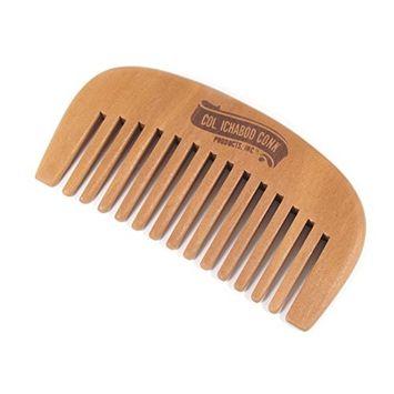 Col Ichabod Conk Wood Beard Comb All Natural