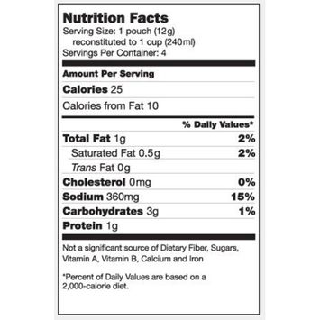 Reduced Sodium Chicken Broth Concentrate, 50 Pack