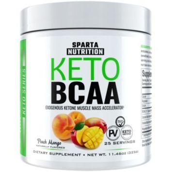 Keto BCAA - PEACH MANGO (11.46 Ounces Powder) by Sparta Nutrition at the Vitamin Shoppe
