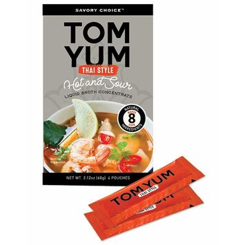 Savory Choice Thai Style Hot and Sour Liquid Broth Concentrate, Tom Yum, 2.12 Ounce