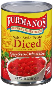 Furmano's® Salsa Style Petite Diced Tomatoes with Spicy Green Chilies & Lime