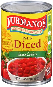 Furmano's® Petite Diced Tomatoes with Green Chilies