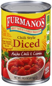 Furmano's® Chili Style Diced Tomatoes with Ancho Chili & Cumin