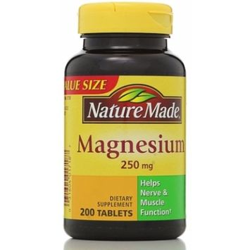 Nature Made Magnesium 250 mg Tablets 200 ea