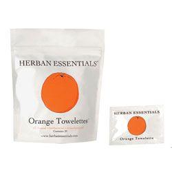 Herban Essentials Orange Towelettes, 20 towelettes