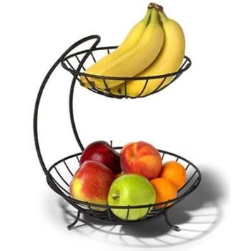 Yumi Black 2 Tier Fruit Server Displays Your Fruit Made Of Sturdy Stee Only One