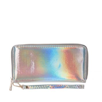 Lady Women Fashion Hasp Wallet, POPPY Long Purse Clutch Crown Card Holder, Silver [name: actual_color value: actual_color-silverwallet]