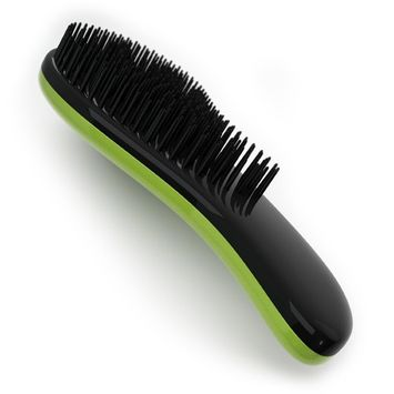 Crave Naturals Glide Thru Detangling Brush - Detangler Hair Brush for Adults or Children - Green