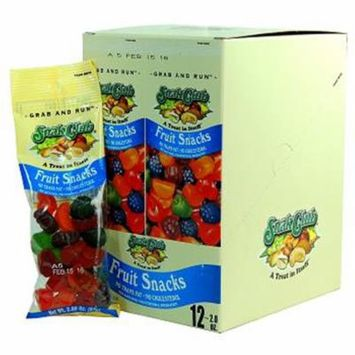 Product Of Snak Club, Fruit Snacks - Tube, Count 12 - Sugar Candy / Grab Varieties & Flavors