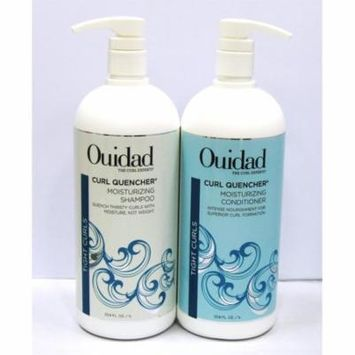 Ouidad Curl Quencher Moisturizing DUO Shampoo 33.8 oz. & Conditioner 33.8 oz
