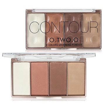 O.TWO.O Face Shading Powder Contour Bronzer Highlighter Palette Set Makeup Face Contour Grooming Pressed Powder