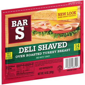 bar-s® deli shaved oven roasted turkey breast
