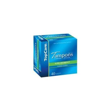 Top Care Topcare Tampons Super Absorbency 40 Count