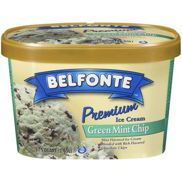 Placeholder Belfonte Premium Green Mint Chip Ice Cream, 1.75 qt