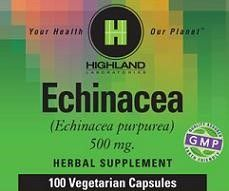 Echinacea Root 500mg Highland Laboratories 100 VCaps
