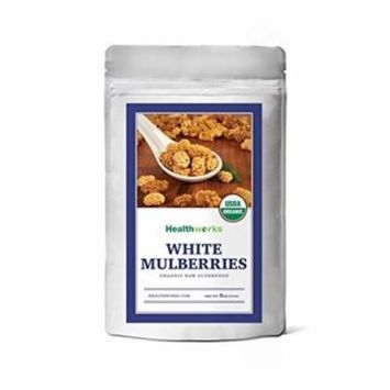 Healthworks White Mulberries Sun-Dried Raw Organic, 8 Ounce