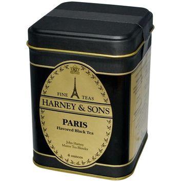 Harney & Sons, Black Tea, Paris Flavored, 4 oz [Flavor : Paris]