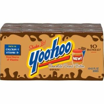 Yoo-hoo Chocolate Peanut Butter Drink Boxes, 6.5 Fl Oz, 10 Count (Pack of 4)
