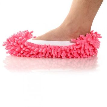 Medex Microfiber Antimicrobial Machine Washable Dust Mop Slippers (2-Pk)