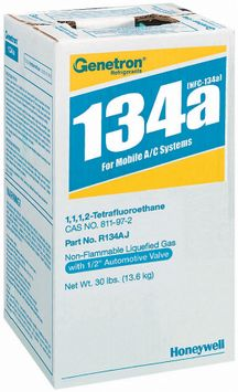Genetron 134a For Mobile A/C Systems Non-Flammable Liquefied Gas 1 Ct Box