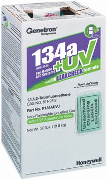 Genetron 134a+Uv For Mobile A/C Systems Non-Flammable Liquefied Gas 1 Ct Box