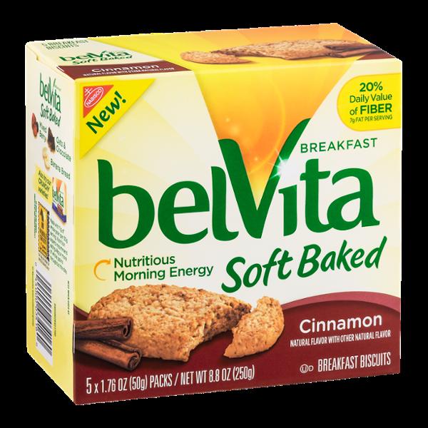 Nabisco belVita Breakfast Biscuits Soft Baked Cinnamon