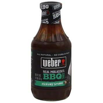 Weber Hickory Smoke Real Molasses BBQ Sauce, 18 oz, (Pack of 6)