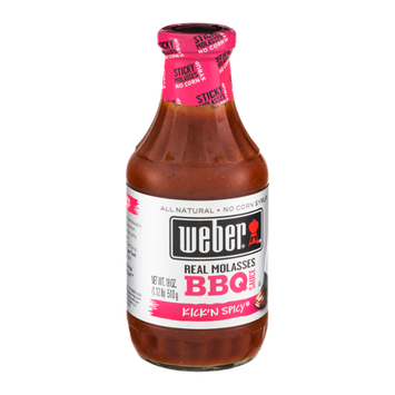 Weber Real molasses BBQ Sauce Kick'n Spicy