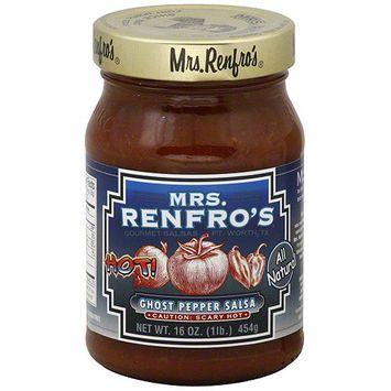 Mrs. Renfro's Ghost Pepper Salsa, 16 oz (Pack of 6)