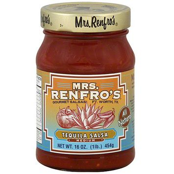 Mrs. Renfro's Tequila Salsa, 16 oz (Pack of 6)
