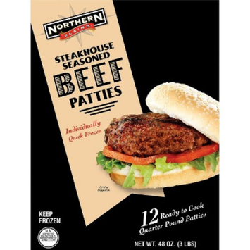 Northern Plains Steakhouse Seasoned Beef Patties 48 oz