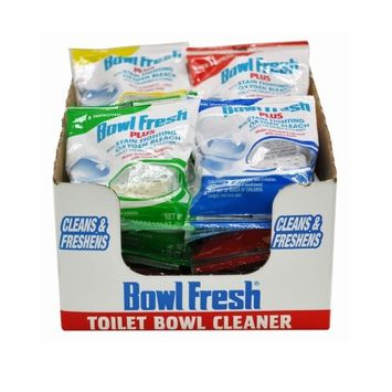 Bowl Fresh Bathroom Cleaning Supplies Toilet Freshener and Cleaner Plus Oxygen Bleach (Case of 24) 310.24T