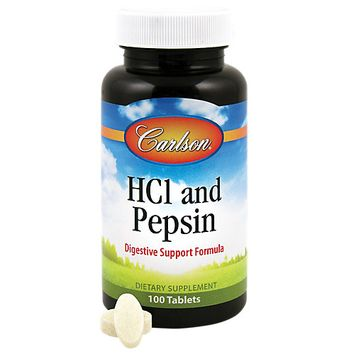 Carlson Laboratories Hcl And Pepsin - 100 Tablets - Enzymes