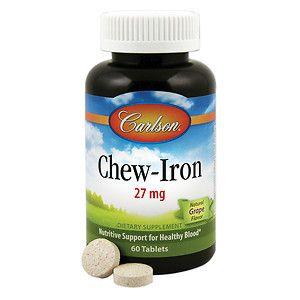 Chew Iron Carlson Laboratories 60 Tabs