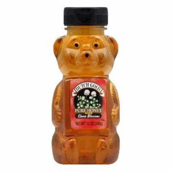 Dutch Gold Clover Honey Squeeze Honey Bear, 12 OZ (Pack of 12)