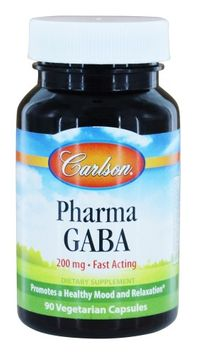 Pharma GABA 200mg Carlson Laboratories 90 Caps