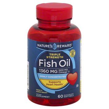 Nature's Reward 3X Fish Oil 1360MG 60 ct