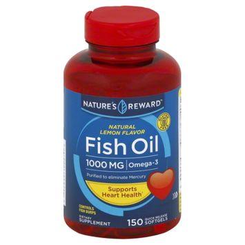 Nature's Reward Fish Oil 1000MG Lemon Flavor 150 ct