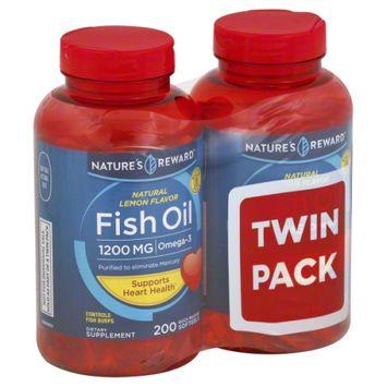 Nature's Reward Fish Oil 1200MG Lemon Flavored Twin Pack 400ct