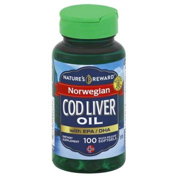 Nature's Reward Norwegian Cod Liver Oil 100 ct
